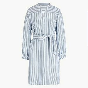 J.Crew Textured Striped Shirtdress NWT Small